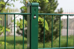 Doppelstabmattenzaun grün